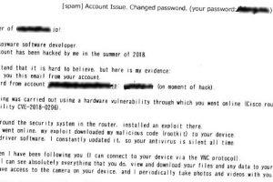 本物パスワード付きランサムメールに注意!